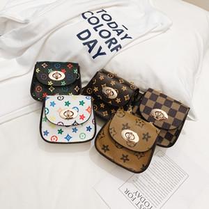 INS Bebek Kız mini çanta çiçek ekose çocuklar prenses messenger çanta moda çocuk chian tek omuz çantaları Değişim Çanta Z01