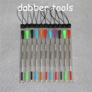 100pcs wax dabber tool Wax Dab Tool with silicone tips and tubes Concentrate Dabber Tool Ego smoking pipes silicone nectar collectors DHL