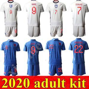 2020 inglaterra kit adulto Futebol ROONEY STERLING Vardy KANE DELE ADULTO KIT SHORTS SOCKS JERSEY casa longe Homens kits Camisas de futebol