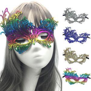 Черный Sexy Halloween кружева маска Маска Lady выдалбливают Masquerade Party Eye 7 цветов Hallowmas Gold Штамповка Lace Half Face Mask BH2061 такой анкеты