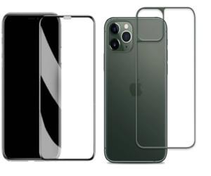 Только экран 21D Полное покрытие Полного Клея Вернуться + фронт закаленного стекла протектора для iPhone 11 11 PRO 200PCS / LOT заднего стекла