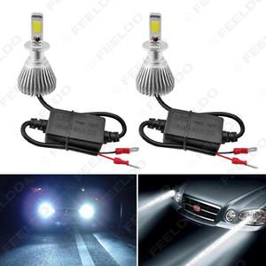 Super White H3 6000K 60W 6400LM voiture COB phares LED Kit ANTIBROUILLARD Ampoules Xenon Light # 1722