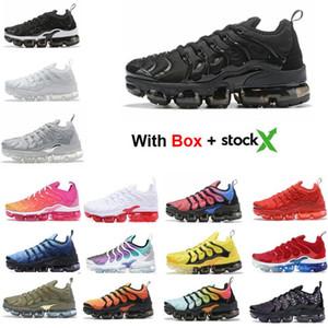 2020 Tn plus d'argent métallisé Blanc Triple Noir Hommes Chaussures de course avec la boîte Tn plus formateur espadrille Livraison gratuite
