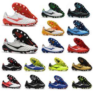 Sıcak Yeni Varış Morelia Neo II 2 FG Deri Futbol Cleats Düşük Futbol Ayakkabıları Erkek Futbol Çizmeler Açık Ucuz Boyutu 39-45