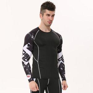 Mens Compression Shirts 3d Teen Wolf Jerseys manga comprida camiseta de fitness Homens Lycra Mma Crossfit T -Shirts calças justas Marca Roupa Tendência