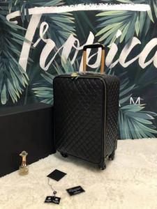 Ücretsiz Kargo SICAK Rolling Siyah Trolley çanta erkekler kadınlar için bagaj üzerinde bavul ve çantaları seyahat bagaj moda yüksek kalitede dört tekerleği kırmızı