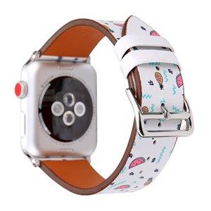 Flower Pattern Designer For Apple Watch Band Correa Aple Watch 42mm 38mm Iwatch 3 2 1 Leather Strap Bracelet Wrist Watchbands