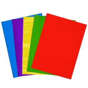 50PCS Прозрачной Сахарной бумага ручной Multicolor Обертывание Diy Нуга Выпечка Конфета целлофан Обертывание бумага Cello Листы A30