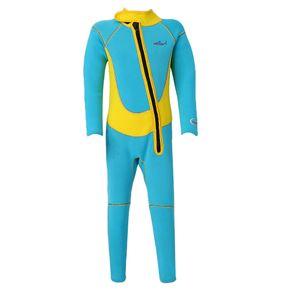 Kids Spring Suit Wetsuit Long Sleeve 2.5mm Children Diving Training Jumpsuit XS S M L XL XXL
