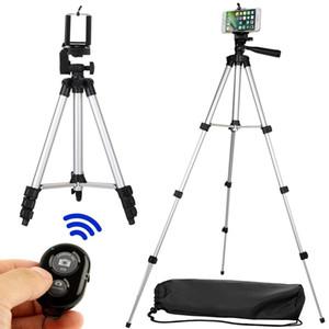 Larga Bluetooth remoto del disparador automático obturador de la cámara Clip Kit trípode sets de regalo para el teléfono del soporte del sostenedor T191025
