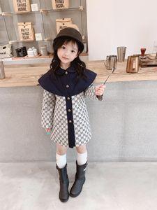 Nuevo invierno niño niños otoño bebés de la capa de foso caliente de la capa del sobretodo de las muchachas de los niños de manga larga chaqueta Outwear