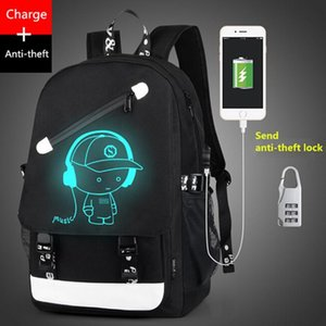 Boys School Backpack Student Luminous Animation USB Charge Changeover Joint School Bags For Teenager Computer Bag Gym Bags Men