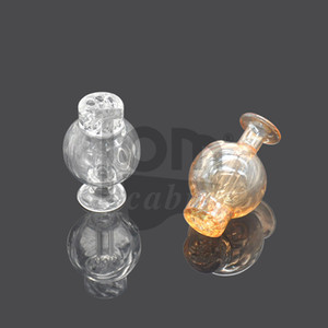 Toppuff Glass Carb Cap Dome Domeless For Less 35mm Quartz Banger Nail Cyclone Riptide Carb Cap Domeless Air Hole Bubbler Enai Dab Rig