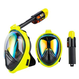 Diving Mask Scuba Underwater Anti Fog Full Face Snorkeling Mask Women Men Sports Swimming Snorkel Equipment Full Face Training