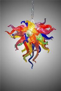 Mini Murano Glass Pendant Lights 110v 120v LED Bulbs Low Price Murano Art Crystal Chandelier Modern