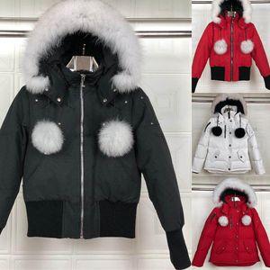 La giacca di inverno delle donne di Down Parka Homme giacca designer Cappotti Big pelliccia con cappuccio Fourrure Manteau giù ricoprono giù il cappotto