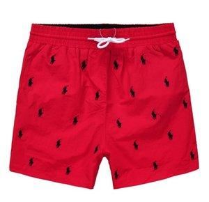 2019 nuevo bordado al por mayor de los cortocircuitos del tablero para hombre de la playa del verano pantalones cortos de alta calidad traje de baño de las Bermudas masculino Carta vida de la resaca de los hombres de la nadada