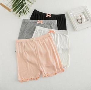 Calças meninas Leggings Cotton Ruffle segurança Summer Fashion Curto calças justas Crianças Modal Elastic suave Shorts Crianças Boutique Roupa PY555
