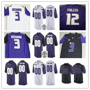 Custom Washington Huskies Fútbol de la universidad Jacob Eason Quinten Libras Byron Murphy Trey Adams Dante Pettis Browning 2018 Rose Bowl