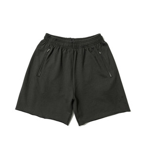 Staffel 6 Calabasas Terry Zip Pocket Shorts Herren Designer Hosen Damen Paare Hochwertige Hip Hop Streeet Short Hose HFSSDK030