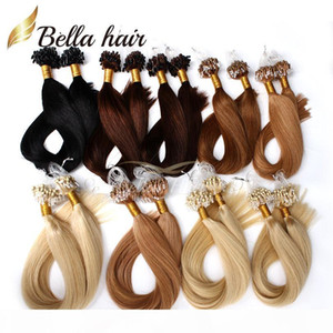 "Top Quality Indian Virgin Human Loop Micro Ring Hair Extensions 18""-24"" #1#2#4#27 #24 #33 #1b Straight 1g strand,100g set Bella Ha"