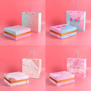 Bonbons Mariage Favors sac fourre-tout papier boîte-cadeau pour bébé douche cadeaux d'anniversaire Favor boîte + sac fourre-tout Nouvel An cadeaux du jour anniversaire de mariage Boîte