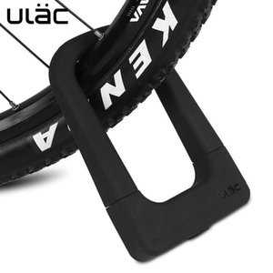ULAC bicycle silicone U-lock universal aluminum alloy lock waterproof anti-collision riding anti-theft bicycle accessories