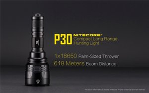 2019 NITECORE P30 1000 Lumens Lampe de poche étanche tactique 18650 Outdoor Hunting Camping Portable USB rechargeable torche