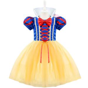 아이를위한 아이 니 베이브 아기 의상 유아 파티 드레스 소녀 Vestido 유아 소녀 1 2 년 생일 공주 백설 공주 테마 드레스 Y19050801
