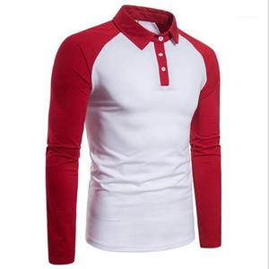 Hommes Lapel Neck Mode Homme Polos Vêtements pour hommes 2020 de luxe de Polos manches longues lambrissés