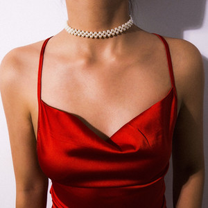 Bohemian Многослойной Имитация Pearl Beads Choker ожерелье воротник Заявление ключицы цепи ожерелье женщин Wedding Beach Party Dress Jewelry
