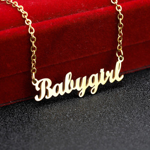 3UMeter Personalized Name Custom Necklace For Women Stainless Steel Digital Letters Clavicle Chain Choker Gift Drop Shipping