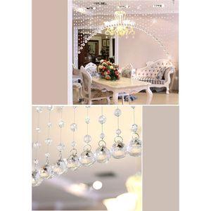 1m 1 tira Crystal Glass Bead cortina diamante Partition Porta Cortina decorativo para Quarto