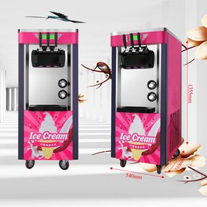 Rapid prototyping refrigeration vertical and beautiful automatic commercial stainless steel soft ice cream machine 220V   110V