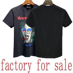 21ss brand men's T-shirt Bermuda European hip-hop printed short-sleeved T-shirt summer new Medusa round neck cotton men's shirt