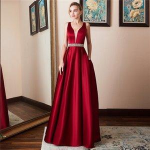 Venta caliente de la señora nuevo estilo de moda sin mangas del partido sin respaldo vestido de alta calidad agraciado completo túnica ceremonial princesa desgaste C19041101