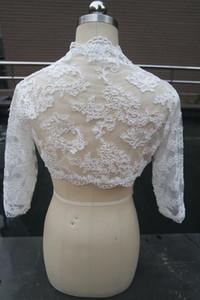 3 4 Sleeve Wedding Jackets Lace Bride Wraps Wedding Accessories Bridal Boleros Wedding Coat Bridal Jacket