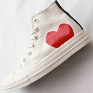 1970s Big Eyes Play Chuck 70 Heart Hi Canvas Skate Shoes Classic 1970 Negro Blanco Nombre Conjunto Skateboard Casual Sneakers Fashion Shoes