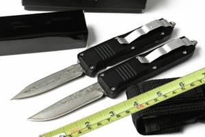 acier Damas C07 Couteau pliant tactique N / E acier 440C OUT lame AUTO Camping Chasse A07 B01 BM47 Survival papillon boîte de ceinture Couteau