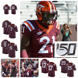 NCAA Virginia Tech Hokies maglie Kaleb Smith Jersey James Mitchell Tayvion Robinson Michael Vick College Football pullover su ordinazione cucito