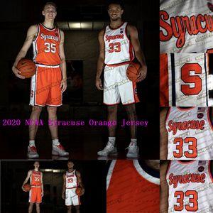 2020 NCAA Syracuse Orange Qualquer Nome Número 35 amigos Boeheim 33 Elias Hughes 0 Brycen Goodine 21 Marek Dolezaj College Basketball Jerseys