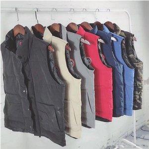 Безрукавки Жилеты Жилеты Luxury Mens вниз Канада конструктора зимы пальто куртки Mens высокого качества вскользь Жилеты мужские пуховик Размер S-2XL