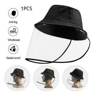 WACO Protective Limpar Máscara Hat Cap, evitar que as gotículas e poeira à prova de poeira Saliva-proof Viseira Fisherman Protetor solar e Rainproof Cap Preto