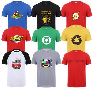 Sheldon Cooper Penny hommes T-shirt à manches courtes d'été The Big Bang Theory T-shirt en coton Cooper hommes de logo T-shirt Tops Respirant