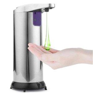 Автоматическое распределение для мыла для мыла Dispenser Disser Dispenser из нержавеющей стали Диспенсер портативный 250 мл громкой связи Dispenser CCA12287 50 шт.