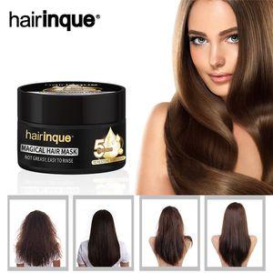 Hairinque Traitement Miracle Masque cheveux Hydratante Nourrissante 5 secondes Réparation Dammage de restauration des cheveux Masque doux Soins des cheveux 30pcs 50ml
