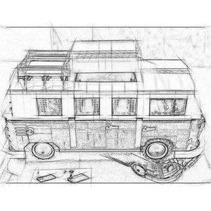 21001 크리에이터 10220 T1 캠프 RV 여행 자동차 1354 개 스트리트 뷰 모델 건물 키트 블록 벽돌 교육 장난감