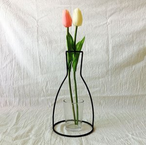 Retro Iron Line Flowers Vase Metal Plant Holder Modern Home Decor Nordic Styles