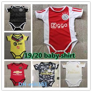 2020 ajax Argentina 6-18 meses camisa do bebê Paris crianças Maillot de pé 19 20 Real Madrid PERIGO Mbappé México Argentina bebê engatinhando terno
