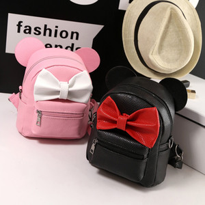 4 Styles Mini PU Leather Backpack Bow Girl Backpacks Ears Mouse School Bag Sweet Girls Teen Kids M714 Bags Shoulders Gvcht